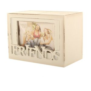 Friends Wooden Photo Box - 48 Photo Album and 6x4 Photo Frame