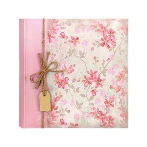 Garden Traditional Pink Floral Album - 40 Sides