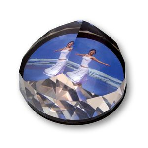 Crystal Rock Diamond Photo Paperweight with Box