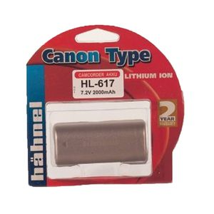 Hahnel HL-617 Canon Type Li-Ion Rechargeable Silver Battery