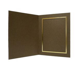 10x Brown 7x5 Portrait Photo Presentation Folders