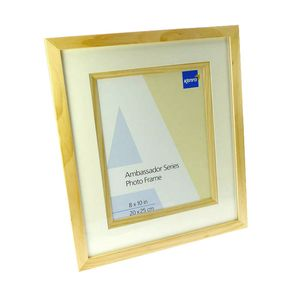 Ambassador Natural Wood 10x8 Photo Frame