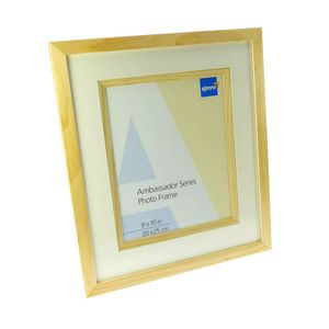 Ambassador Natural Wood 12x8 Photo Frame