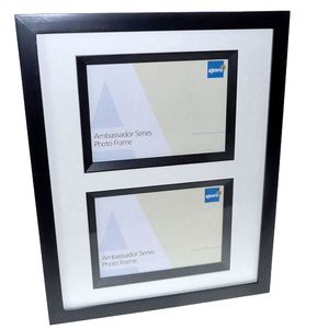Ambassador Black Wood 8x6 Photo Frame Twin