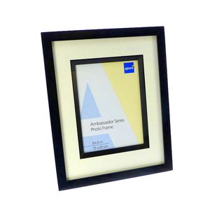 Ambassador Black Wood 8x6 Photo Frame