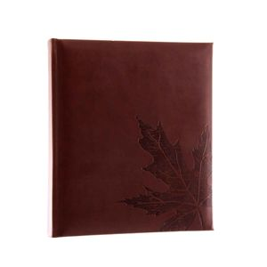 Autumn Leaf Brown 7x5 Slip In Photo Album - 200 Photos