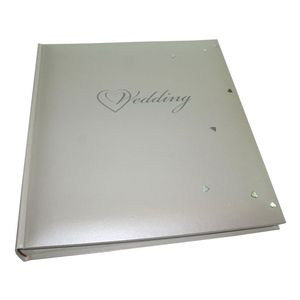 Fleur White Wedding Traditional Large Photo Album - 60 Sides