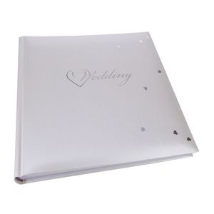 Fleur White Wedding Traditional Small Photo Album - 60 Sides