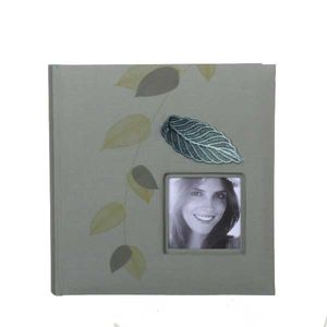 Garden Leaf Green Slip In 6x4 Photo Album - 200 Photos
