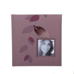 Garden Leaf Pink  Slip In 6x4 Photo Album - 200 Photos
