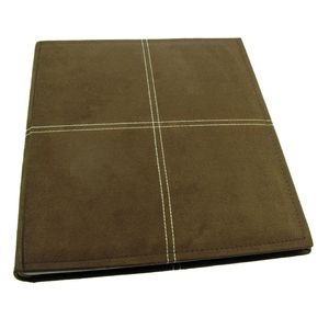 Suede Brown Traditional Photo Album - 50 Sides