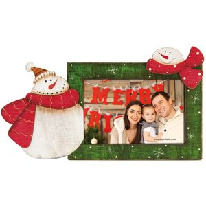 Snowman Wood 6x4 Photo Frame