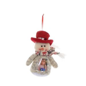 Snowman Grey Christmas Photo Holder