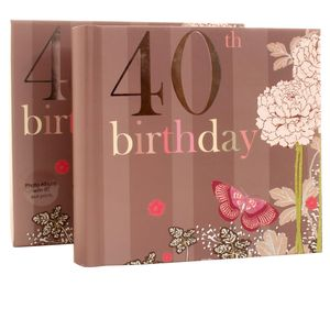 40th Birthday Nouveau Delights 6x4 Slip In Photo Album 80 Photos