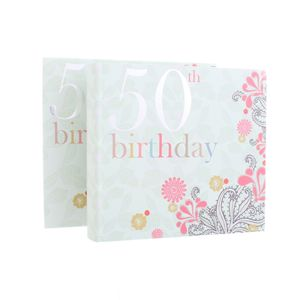 50th Birthday Nouveau Delights 6x4 Slip In Photo Album 80 Photos