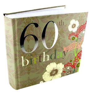 60th Birthday Nouveau Delights 6x4 Slip In Photo Album 80 Photos