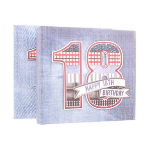 18th Birthday Denim Collection 6x4 Slip In Photo Album 80 Photos