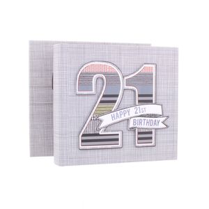21st Birthday Denim Collection 6x4 Slip In Photo Album 80 Photos