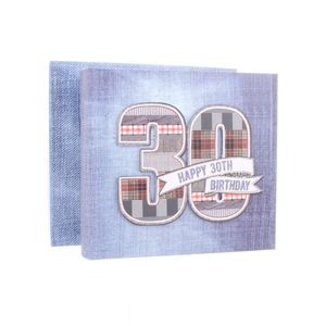 30th Birthday Denim Collection 6x4 Slip In Photo Album 80 Photos