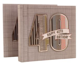 40th Birthday Denim Collection 6x4 Slip In Photo Album 80 Photos