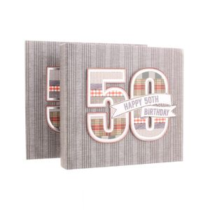50th Birthday Denim Collection 6x4 Slip In Photo Album 80 Photos