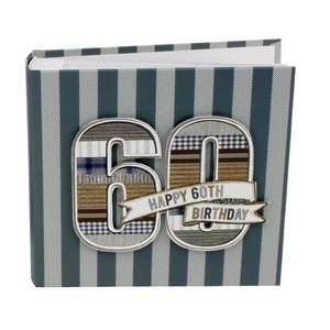 60th Birthday Denim Collection 6x4 Slip In Photo Album 80 Photos