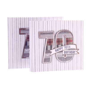 70th Birthday Denim Collection 6x4 Slip In Photo Album 80 Photos