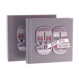 90th Birthday Denim Collection 6x4 Slip In Photo Album 80 Photos