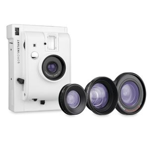 Lomography Lomo'Instant Mini White Edition Camera with 3 Lenses