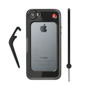 Manfrotto Klyp+ Black Bumper Case for iPhone 5/5S with Stand and Wrist Strap
