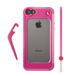 Manfrotto Klyp+ Pink Bumper Case for iPhone 5/5S with Stand and Wrist Strap