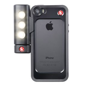 Manfrotto Klyp+ Black Bumper Case for iPhone 5/5S with SMT LED Light