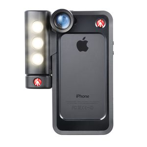 Manfrotto Klyp+ Black Bumper Case for iPhone 5/5S with SMT LED Light and Set of 3 Lenses