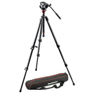 Manfrotto MVH500AH755CX3 CF MDeVe Tripod and Fluid Video Head