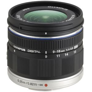 Olympus 9-18mm f4.0-5.6 R ED M.ZUIKO Black Micro Four Thirds Lens