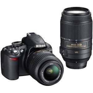Nikon D3100 D-SLR Digital Camera, 18-55mm VR Lens & 55-300mm VR Lens