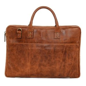 ONA Kingston Antique Cognac Leather Briefcase Bag
