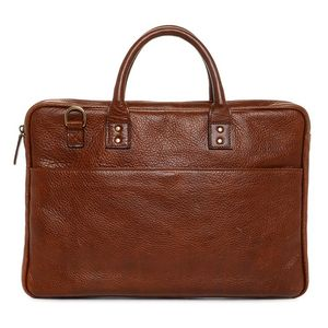 ONA Kingston Walnut Leather Briefcase Bag