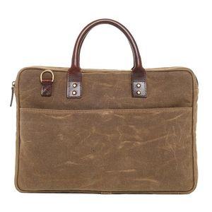 ONA Kingston Field Tan Briefcase Bag