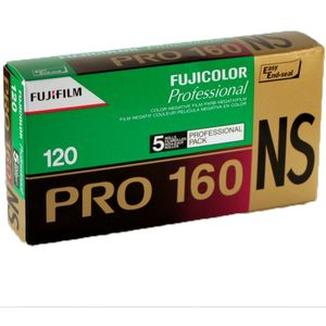 Fujifilm Pro 160NS 120 Colour Print Roll Film Pack of 5