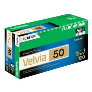 Fujifilm Velvia 50 120 Colour Slide Roll Film Pack of 5