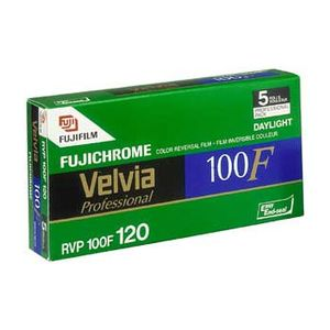 Fujifilm Velvia 100F 120 Colour Slide Roll Film Pack of 5
