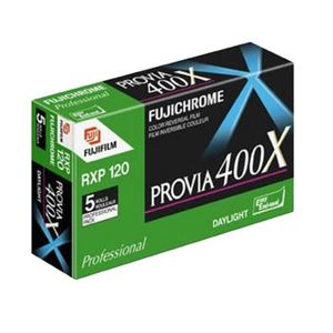 Fujifilm Provia 400X 120 Colour Slide Roll Film Pack of 5