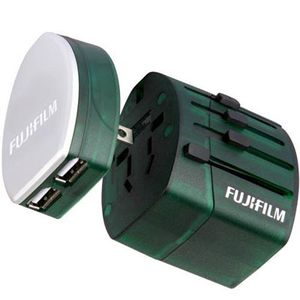 Fujifilm WorldTrip Dual USB Charger and Travel Adapter - Green