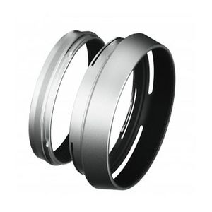 Fuji X100 / X100S Silver Lens Hood with Adapter Ring