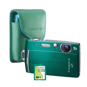 Fujifilm FinePix Green Z110 Digital Camera with Case and 4GB Memory Card Bundle