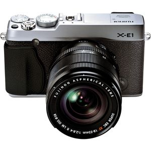 Fujifilm X-E1 Silver Digital Camera and 18-55mm Lens Kit