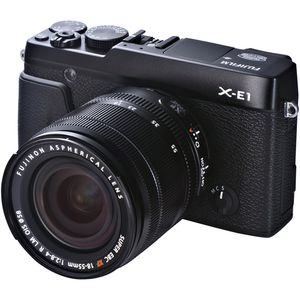 Fujifilm X-E1 Black Digital Camera and 18-55mm Lens Kit