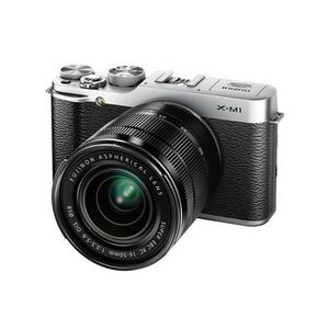 Fujifilm X-M1 Silver Compact System Camera and XC 16-50mm Lens Kit