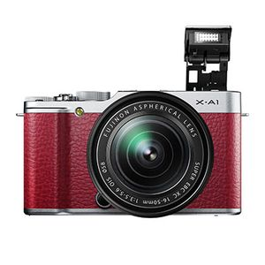 Fujifilm X-A1 Red Compact System Camera with 16-50mm Silver Lens